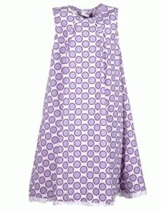 Mädchenkleid in A-Form mit Kreisen