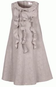 Mädchenkleid aus Leinen in beige