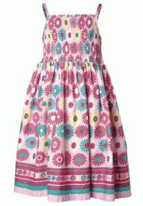 Blümchenkleid für Mädchen in Tulpenform