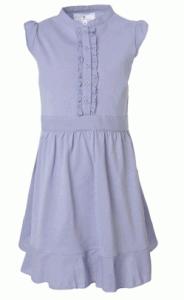 blaues Mädchenkleid in Stil der 40er Jahre