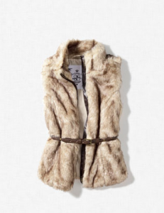 Kinder Fake Fur Weste von Zara