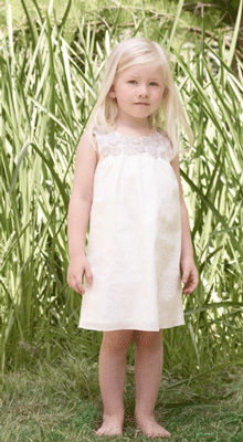 weißes Mädchenkleid von Chloé