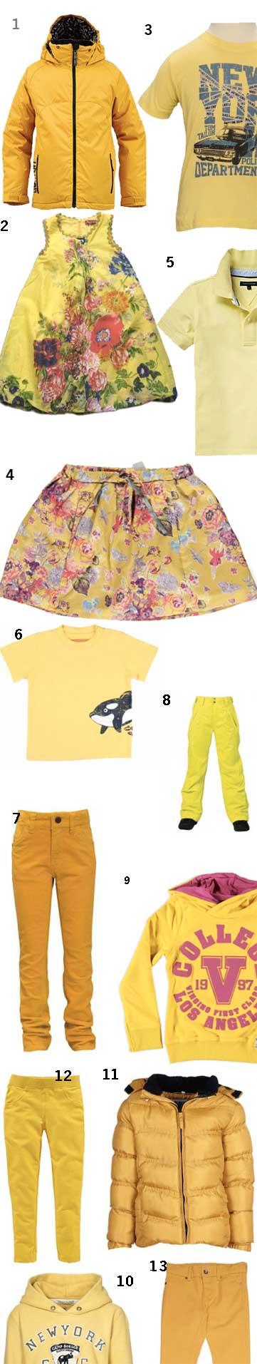 Gelbe Kindermode
