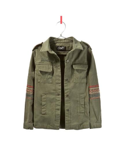 Military Jacke von Zara